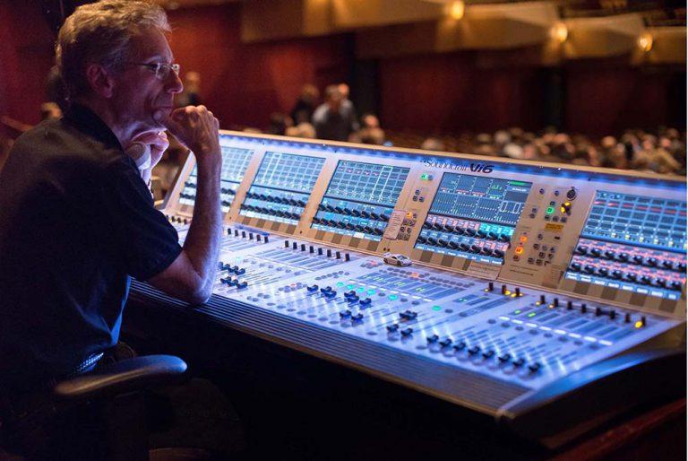Sound Technician at work in studio