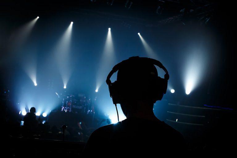 Sound man at a concert